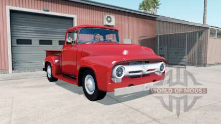 Ford F-100 Custom Cab 1956 для American Truck Simulator