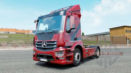 Mercedes-Benz Antos venetian red для Euro Truck Simulator 2