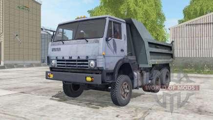КамАЗ-55111 серовато-синий окҏас для Farming Simulator 2017