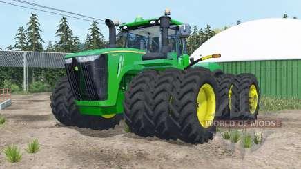 John Deere 9620R triple wheels для Farming Simulator 2015