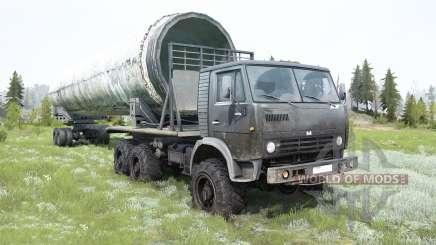 КамАЗ-4310 тёмно-серый окрас для MudRunner