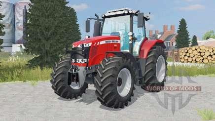 Massey Ferguson 7616 added wheels для Farming Simulator 2015