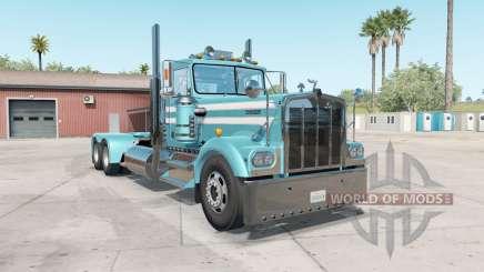 Kenworth W900A aquamarine blue для American Truck Simulator