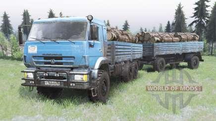 КамАЗ-43118 ярко-голубой окрас для Spin Tires