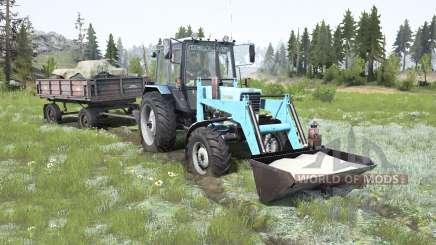 МТЗ-82.1 Беларус мягко-голубой окрас для MudRunner