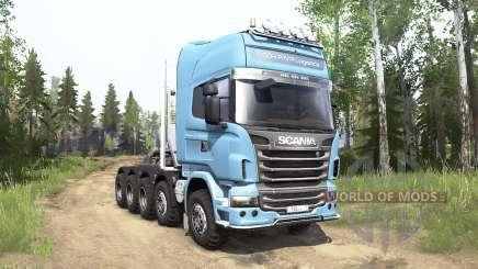 Scania R730 Topline 10x10 для MudRunner