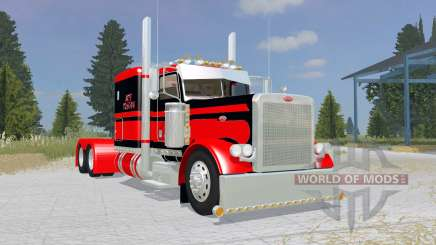 Peterbilt 379 Flat Top red для Farming Simulator 2015