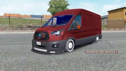 Ford Transit Jumbo Van для Euro Truck Simulator 2