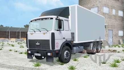 МАЗ-6303 светло-серовато-синий окрас для Farming Simulator 2015