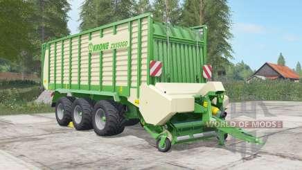 Krone ZX 550 GD chateau green для Farming Simulator 2017