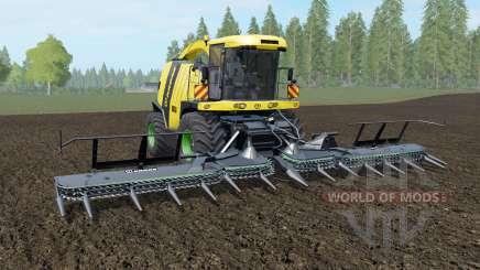 Krone BiG X 1100 banana yellow для Farming Simulator 2017