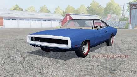 Dodge Charger RT (XS29) 1969 klein blue для Farming Simulator 2013