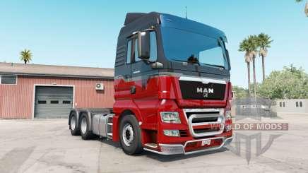 MAN TGX rosso corsa для American Truck Simulator