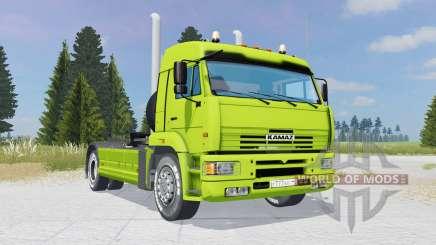 КамАЗ-5460 зелёно-лаймовый окрас для Farming Simulator 2015