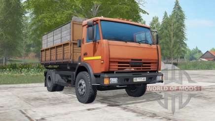 КамАЗ-43255 оранжевый окҏас для Farming Simulator 2017