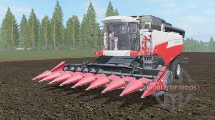 Acros 595 Plus кораллово-красный окрас для Farming Simulator 2017