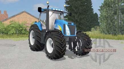 New Holland T8020 process cyan для Farming Simulator 2015