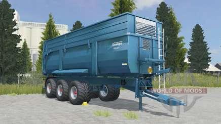 Krampe Big Body 900 S eastern blue для Farming Simulator 2015