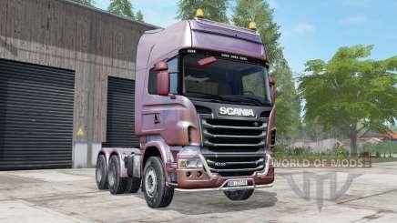 Scania R730 Topline redwood для Farming Simulator 2017