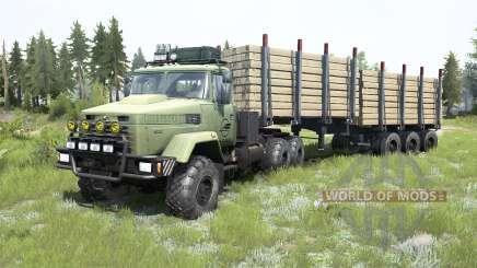 КрАЗ-6322 серовато-зеленый окрас для MudRunner