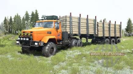 КрАЗ-6322 ярко-оранжевый окрас для MudRunner