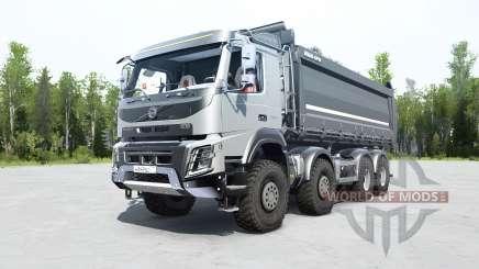 Volvo FMX 500 8x8 tipper для MudRunner