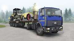 МАЗ-5434 тёмно-синий окрас для Spin Tires