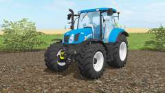 New Holland T6.160 vivid cerulean для Farming Simulator 2017