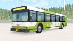 Wentward DT40L Green Beijing Bus для BeamNG Drive