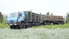 КамАЗ-6350 мягко-синий окрас для MudRunner