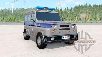 УАЗ Антигелик полицейский для BeamNG Drive