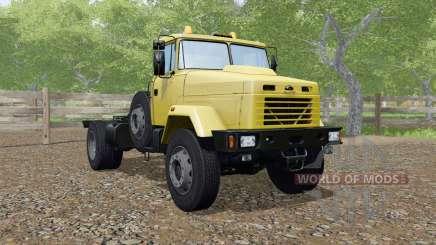 КрАЗ-5133 жёлтый окрас для Farming Simulator 2017