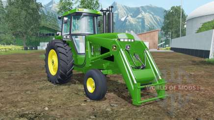 John Deere 4455 front loader islamic green для Farming Simulator 2015