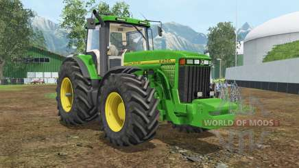 John Deere 8400 wheel shader для Farming Simulator 2015