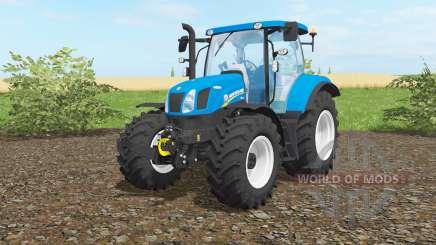New Holland T6.160 vivid cerulean для Farming Simulator 2017