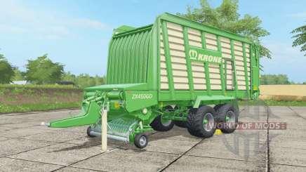 Krone ZX 450 GD malachite для Farming Simulator 2017