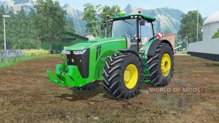 John Deere 8370R vivid malachite для Farming Simulator 2015
