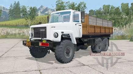 ГАЗ-3309 трёхосный для Farming Simulator 2015