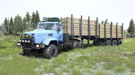 КрАЗ-6322 светло-синий окрас для MudRunner