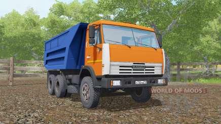 КамАЗ-55111  ярко-оранжевый окрас для Farming Simulator 2017