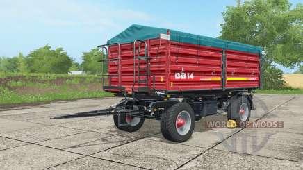 Metaltech DB 14 alizarin crimson для Farming Simulator 2017