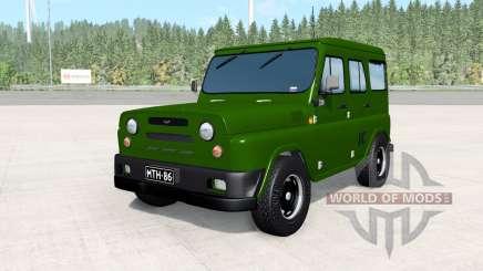 УАЗ Антигелик армейский для BeamNG Drive