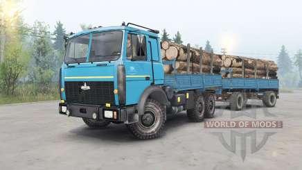 МАЗ-6317 голубой окрас для Spin Tires