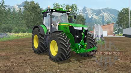 John Deere 7310R wheel shader для Farming Simulator 2015