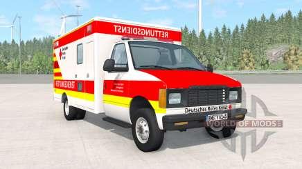 Gavril H-Series German Ambulance v1.3 для BeamNG Drive