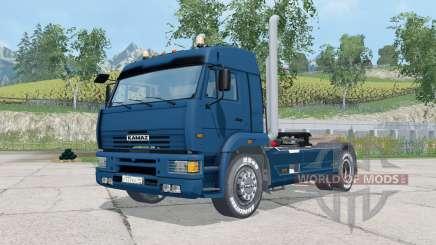 КамАЗ-5460 тёмно-синий окрас для Farming Simulator 2015