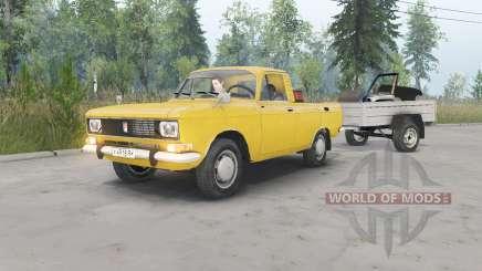 Москвич-2315 жёлтый окрас для Spin Tires