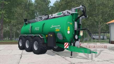 Samson PGII 27 shamrock green для Farming Simulator 2015