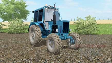 МТЗ-82 Беларус  голубой окрас для Farming Simulator 2017