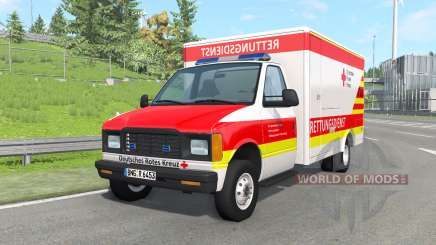Gavril H-Series German Ambulance v1.4 для BeamNG Drive